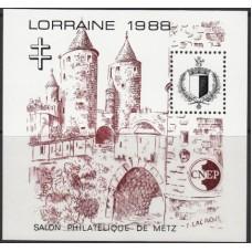 Архитектура Франция 1988, Филателистическая выставка Метц-88, блок Крепость