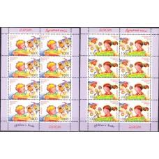 Беларусь 2010, Детские книги Выпуск EUROPA, комплект 2 малых листа марок Mi: 802-803