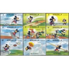 Дисней Ангилья 1984, Олимпиада Лос Анджелес-84, серия 9 марок