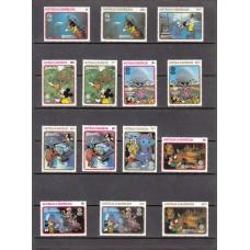Дисней Антигуа и Барбуда 1988, Экспо Центр, серия 14 марок