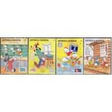 Дисней Антигуа и Барбуда 1989, Филателистическая осведомленность Марка на марке, серия 4 марки