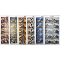 """Дисней Антигуа и Барбуда 1996, Жюль Верн """"20000 лье под водой"""", серия 6 марок в малых листах"""