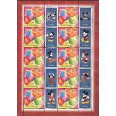 Дисней Австралия 2003, Микки Маус, малый лист