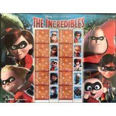 Дисней Австралия 2004, Мультфильм Неимоверные Суперсемейка, малый лист