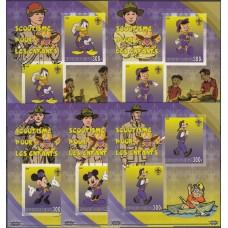 Дисней Джибути 2007, Герои Диснея скауты, полная серия без зубцов