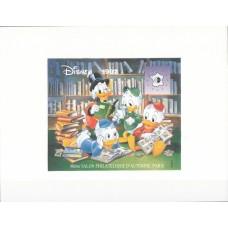 Дисней Франция 1992, Филателистический салон Париж-92, сувенирный лист на картоне (очень редкий)