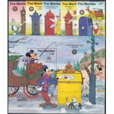 Дисней Гамбия 1986, Рождество STOCKHOLMIA-86 История Почты, полная серия