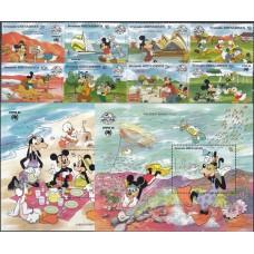 Дисней Гренада Гренадины 1988, фил-выставка SYDNEX-88, 60 лет Микки Мауса, полная серия