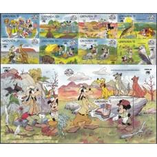 Дисней Гренада 1988, Герои Диснея в Австралии SYDPEX-88 фил-выставка, полная серия