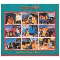 Дисней Гайана 1995, Покахонтас-2 малый лист № 3 (второй выпуск)