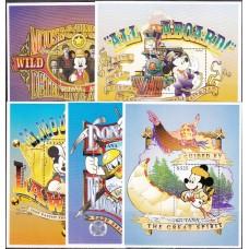 Дисней Гайана 1996, Приключения Микки Мауса и героев Диснея, полная серия в малых листах с блоками (редкая)