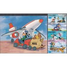 Дисней Лесото 1986, История почты Фил-выставка AMERIPEX-86, полная серия