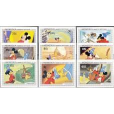 Дисней Монголия 1983, Ученик Чародея Фантазия, серия 9 марок без зубцов