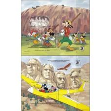 Дисней Сент-Винсент 1989, Герои Диснея и День Независимости США, выставка EXPO-89, комплект 2 блока Mi: 87-88