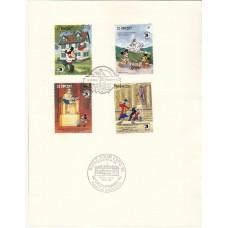 Дисней Сент-Винсент 1989, Герои Диснея и День Независимости США, выставка EXPO-89, серия 8 марок Mi: 1358-1365 СПЕЦГАШЕНИЕ
