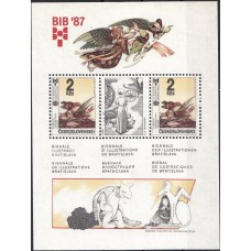 Сказки Чехословакия 1987, Детские сказки Птицы, блок Mi: 72