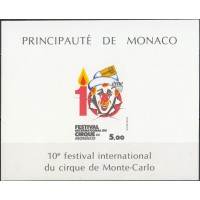 Цирк Монако 1994, Фестиваль цирка в Монако Клоун, блок Mi: 27 без зубцов