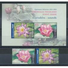 Флора Австралия 2002, Цветки лотоса, полная серия