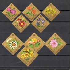 Флора Бурунди, Цветы серия 9 марок, авиапочта