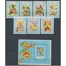 Флора Лаос 1985, Цветы Орхидеи, полная серия
