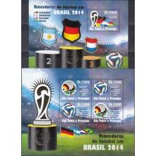 Футбол Сан Томе и Принсипе 2014, ЧМ Бразилия-2014 Победители Германия, полная серия с зубцами