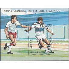 Футбол Никарагуа 1989, ЧМ Италия-90 блок Mi: 183