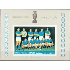 Футбол Аджман 1968, ЧЕ Италия-68 Италия - Чемпион Европы-68, блок Mi: 49 В