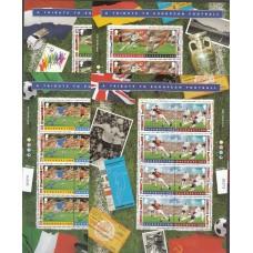 Футбол Гернси 1996, ЧЕ Англия-1996, полный комплект в малых листах