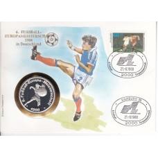 Футбол ФРГ 1988, ЧЕ ФРГ-88 комплект 3 кпд с тремя разными официальными медалями EURO-88
