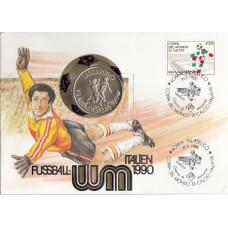 Футбол Венгрия 1988, ЧМ Италия-90 кпд с монетой 100 форинтов