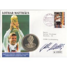 Футбол Мальдивы 1992, ЧМ США-94 кпд марки Mi: 1760 c официальной медалью Бундес-Лиги