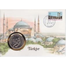 Футбол Турция 1982, ЧМ Испания-82 кпд с футбольной монетой 100 турецких лир