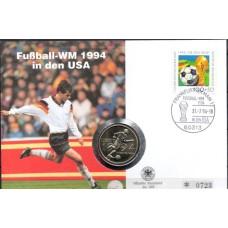 Футбол ФРГ 1994, ЧМ США-94, КПД с памятной футбольной монетой США 1/2 $