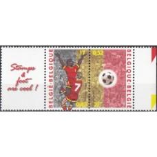 Футбол Бельгия 2000, ЧЕ Бельгия-Нидерланды-2000, 2 марки с купоном