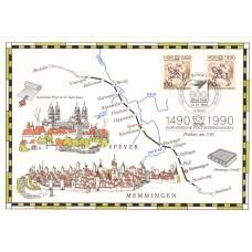 История почты ФРГ 1990, Картмаксимум двусторонний 2 марки