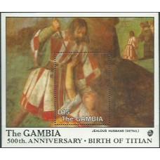 Живопись Гамбия 1988, Тициан 500-летие, блок Mi: 49