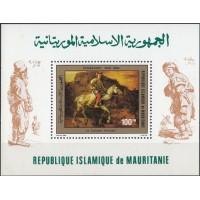 Живопись Мавритания 1980, Рембрандт блок Mi: 28