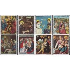 Живопись Парагвай 1975, Мадонна Библейские сюжеты, серия 8 марок Mi: 2624-2631