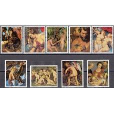 Живопись Парагвай 1978, Рубенс полная серия 9 марок