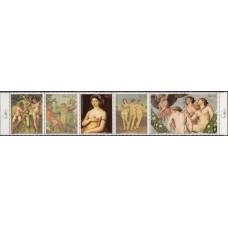 Живопись Парагвай 1982, Рафаэль серия 6 марок Mi: 3546-3551 сцепка