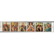 Живопись Парагвай 1982, Рафаэль серия 6 марок Mi: 3553-3559 сцепка