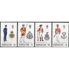 Военная форма Гибралтар 1974, Униформа полная серия Mi: 313-316