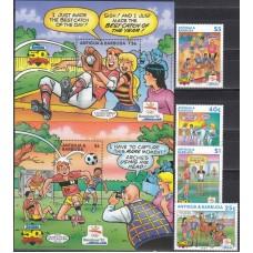 Олимпиада Антигуа и Барбуда 1992, Барселона-92 серия 4 марки 2 блока (очень редкая)
