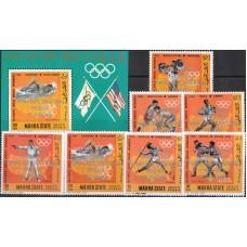 Олимпиада Аден Махра 1968, Мексика-68, Американцы-чемпионы Мексика-68 (редкий) с зубцами НАДПЕЧАТКА