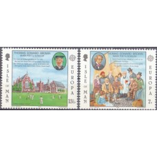 Европа Мэн остров 1980, Выпуск EUROPA серия 2 марки Томас Эдвардс Браун