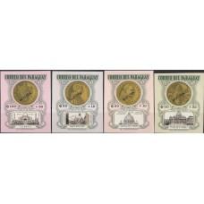 Религия Парагвай 1964, Медали Папа Римский Архитектура соборы, серия 4 марки без зубцов MUESTRO