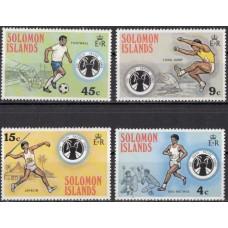 Спорт Соломоновы острова 1975, Тихоокеанские игры Футбол Легкая атлетика, серия 4 марки