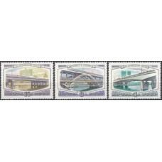 СССР 1980, Мосты Москвы, полная серия 5141-5143 (Сол)