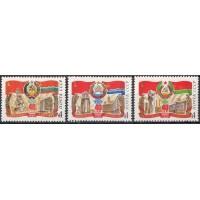 СССР 1980, Прибалтийские республики Эстония Латвия Литва, 3 марки 5092, 5094-95(Сол)