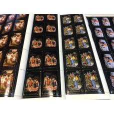 СССР 1977, Живопись Народные промыслы Федоскино, 4 полных листа марок 4686-88 и 4690 (Сол)
